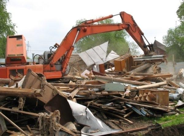 демонтаж домов в частном секторе